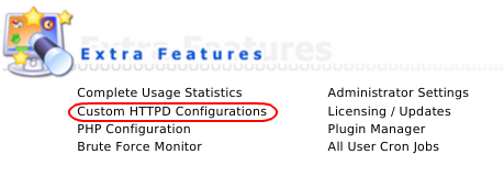 DA - Custom HTTPD Configurations